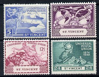 St Vincent 1949 KG6 75th Anniversary of Universal Postal Union set of 4 unmounted mint, SG 178-81