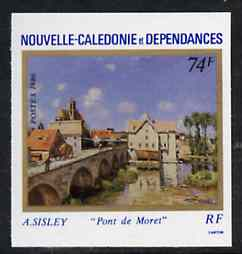 New Caledonia 1986 Paintings (Moret Bridge) imperf from limited printing, as SG 799*