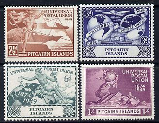Pitcairn Islands 1949 KG6 75th Anniversary of Universal Postal Union set of 4 unmounted mint, SG 13-16