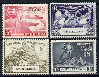 St Helena 1949 KG6 75th Anniversary of Universal Postal Union set of 4 unmounted mint, SG 145-48
