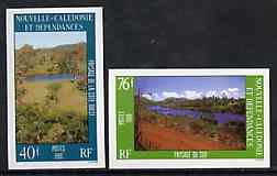 New Caledonia 1986 Landscapes #2 set of 2 imperf from limited printing, as SG 795-96*