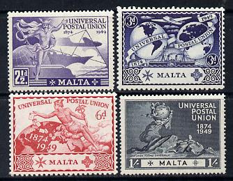 Malta 1949 KG6 75th Anniversary of Universal Postal Union set of 4 unmounted mint, SG 251-4