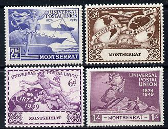 Montserrat 1949 KG6 75th Anniversary of Universal Postal Union set of 4 unmounted mint, SG 117-20