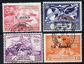 Somaliland 1949 KG6 75th Anniversary of Universal Postal Union set of 4 cds used SG 121-24