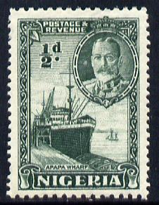 Nigeria 1936 KG5 Pictorial 1/2d green mounted mint, SG 34