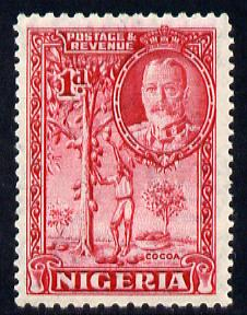 Nigeria 1936 KG5 Pictorial 1d carmine mounted mint, SG 35