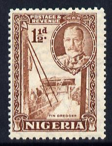 Nigeria 1936 KG5 Pictorial 1.5d brown unmounted mint, SG 36