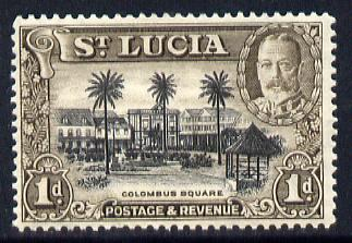 St Lucia 1936 KG5 Pictorial 1d black & brown unmounted mint, SG 114