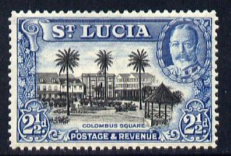 St Lucia 1936 KG5 Pictorial 2.5d black & blue unmounted mint, SG 117