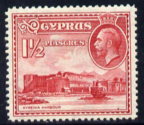 Cyprus 1934 KG5 Pictorial 1.5pi carmine mounted mint SG 137