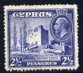 Cyprus 1934 KG5 Pictorial 2.5pi ultramarine mounted mint SG 138
