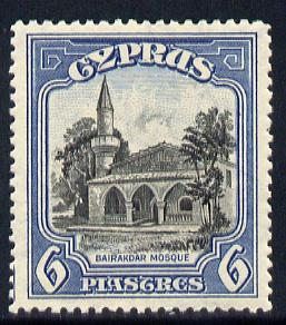 Cyprus 1934 KG5 Pictorial 6pi black & blue mounted mint SG 140