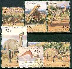 Australia 1993 Prehistoric Animals complete set of 6 unmounted mint, SG 1423-28, stamps on , stamps on  stamps on dinosaurs, stamps on  stamps on ferns