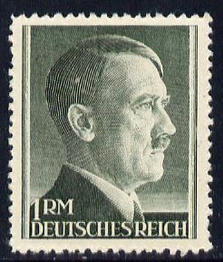 Germany 1942-44 Adolf Hitler 1m bottle green P12.5 unmounted mint, SG 799