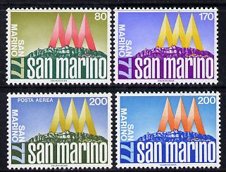San Marino 1977 International Stamp Exhibition set of 4 unmounted mint, SG 1068-71