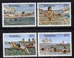 Tokelau 1980 Water Sports perf set of 4 unmounted mint, SG 73-76