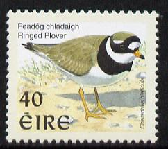 Ireland 1997-2000 Birds - Ringed Plover 40p with phosphor frame unmounted mint SG 1055p