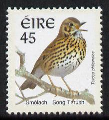 Ireland 1997-2000 Birds - Song Thrush 45p with phosphor frame unmounted mint SG 1057p