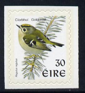 Ireland 1997-2000 Birds - Goldcrest 30p self adhesive Perf 9x10 with phosphor frame unmounted mint SG 1086p