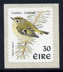Ireland 1997-2000 Birds - Goldcrest 30p self adhesive Perf 11.5 with phosphor frame unmounted mint SG 1090p
