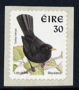 Ireland 1997-2000 Birds - Blackbird 30p self adhesive Perf 11.5 with phosphor frame unmounted mint SG 1091p