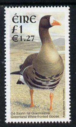 Ireland 2001 Birds Dual Currency - White Fronted Goose �1/E1.25 unmounted mint SG 1429
