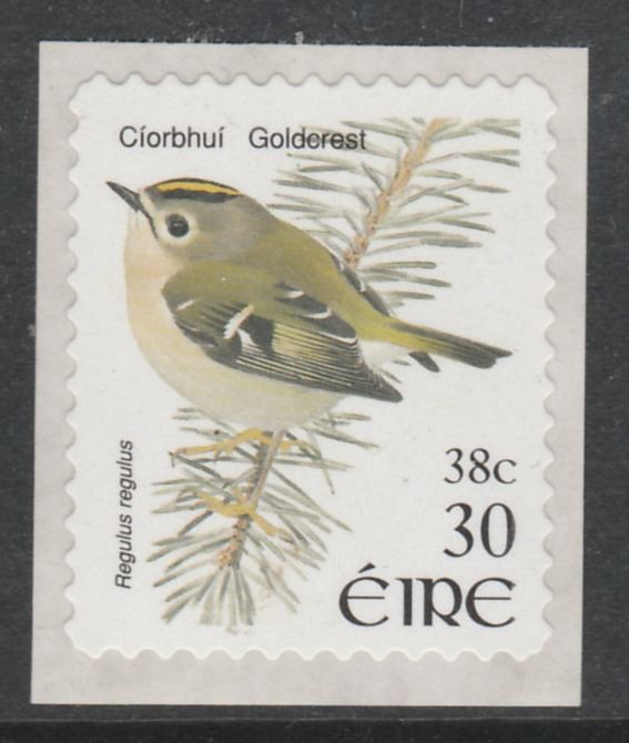 Ireland 2001 Birds Dual Currency - Goldcrest 30p/38c self-adhesive unmounted mint SG 1431