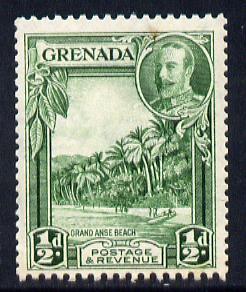 Grenada 1934-36 KG5 Pictorial 1/2d green P12.5 x 13.5 mounted mint SG 135a