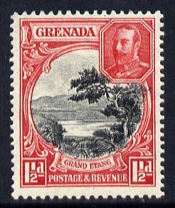 Grenada 1934-36 KG5 Pictorial 1.5d black & scarlet P12.5 x 13.5 mounted mint SG 137a