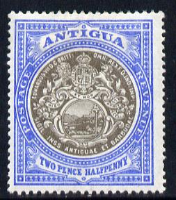 Antigua 1903-07 Crown CC Badge 2.5d grey-black & blue mounted mint SG 34
