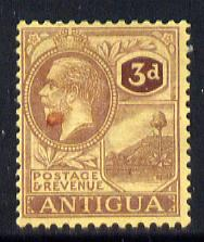 Antigua 1921-29 KG5 MCA 3d purple on pale yellow mounted mint SG 55
