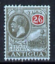 Antigua 1921-29 KG5 MCA 2s6d black & red on blue mounted mint SG 59