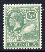 Antigua 1921-29 KG5 Script CA 1/2d dull green mounted mint SG 62