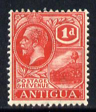 Antigua 1921-29 KG5 Script CA 1d carmine-red mounted mint SG 63