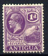 Antigua 1921-29 KG5 Script CA 1d bright violet mounted mint SG 64