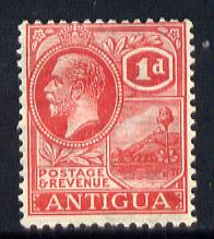 Antigua 1921-29 KG5 Script CA 1d bright scarlet mounted mint SG 65
