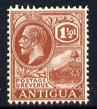 Antigua 1921-29 KG5 Script CA 1.5d pale red-brown mounted mint SG 69