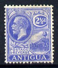 Antigua 1921-29 KG5 Script CA 2.5d bright blue mounted mint SG 71