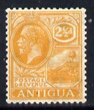 Antigua 1921-29 KG5 Script CA 2.5d orange-yellow mounted mint SG 72