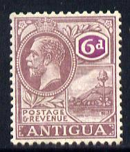Antigua 1921-29 KG5 Script CA 6d dull & bright purple mounted mint SG 75