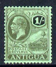 Antigua 1921-29 KG5 Script CA 1s black on emerald mounted mint SG 76