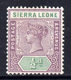 Sierra Leone 1896-97 QV Key Plate Crown CA 1/2d mauve & green mounted mint SG 41