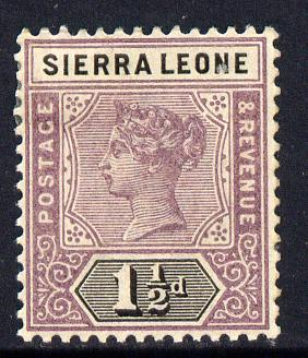 Sierra Leone 1896-97 QV Key Plate Crown CA 1.5d mauve & black mounted mint SG 43