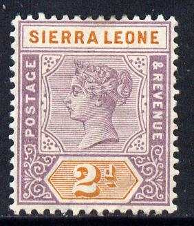 Sierra Leone 1896-97 QV Key Plate Crown CA 2d mauve & orange mounted mint SG 44