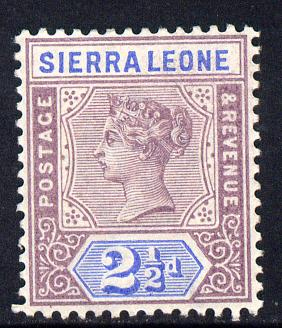 Sierra Leone 1896-97 QV Key Plate Crown CA 2.5d mauve & ultramarine mounted mint SG 45