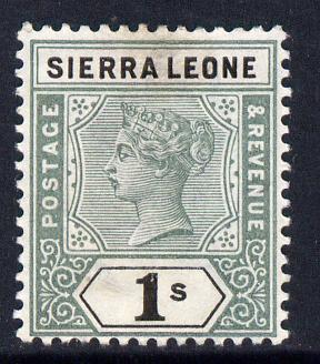 Sierra Leone 1896-97 QV Key Plate Crown CA 1d black & green mounted mint SG 50