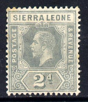 Sierra Leone 1912-21 KG5 MCA 2d grey mounted mint SG 115