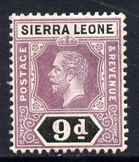 Sierra Leone 1912-21 KG5 MCA 9d purple & black mounted mint SG 121
