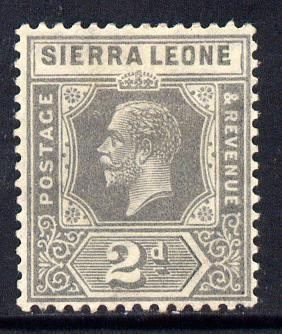 Sierra Leone 1921-27 KG5 Script CA 2d grey mounted mint SG 134