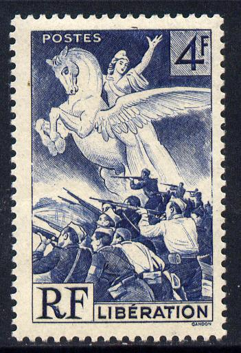 France 1945 Liberation 4f blue unmounted mint SG 901